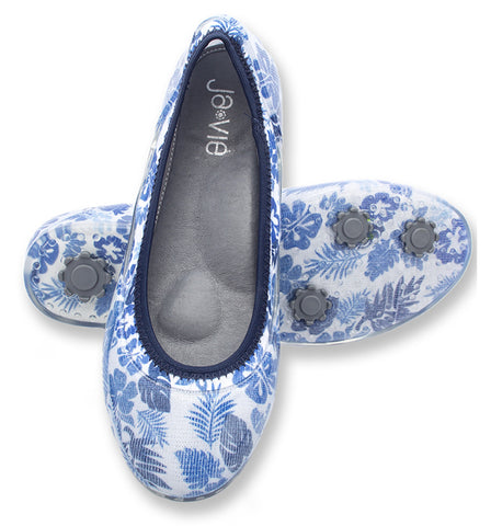 ja-vie denim tropical jelly flats shoes