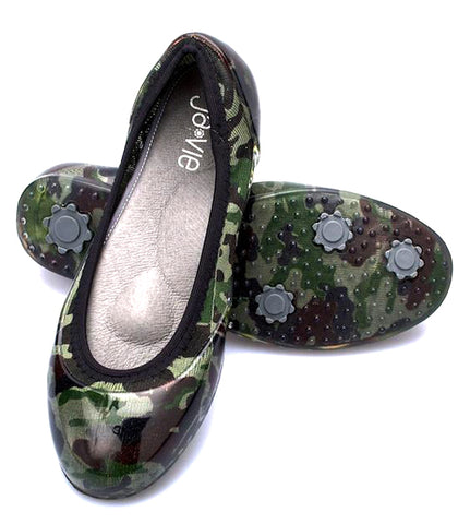ja-vie camouflage jelly flats shoes