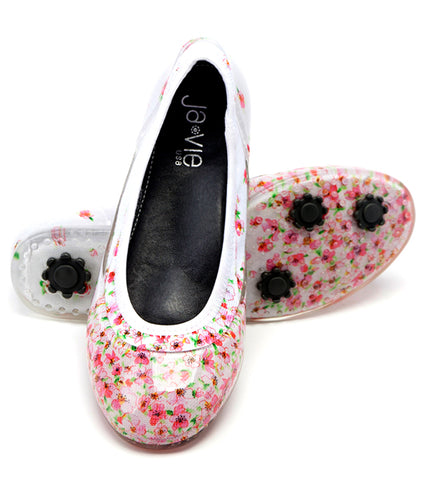 ja-vie cherry blossom jelly flats shoes