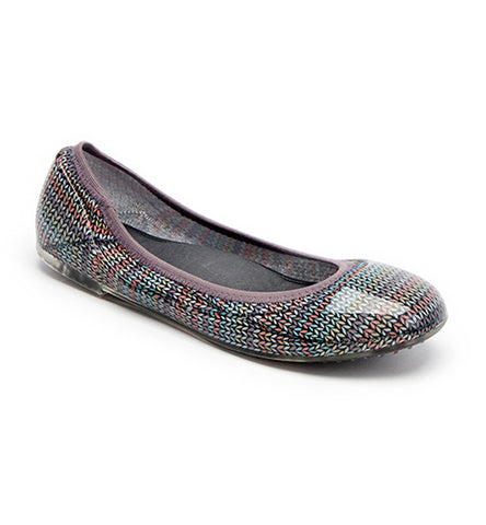 ja-vie pastel sweater knit print jelly flats shoes