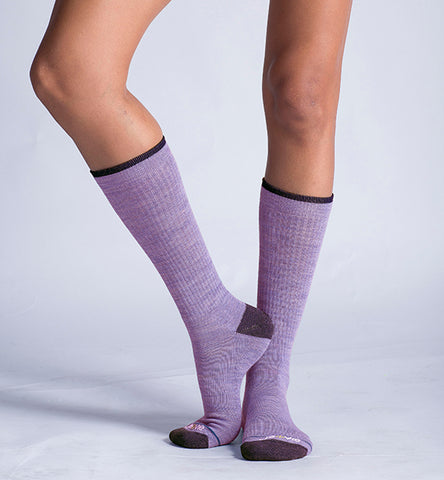 ja-vie Merino Wool Relaxed Fit Socks 2-pack Grey, Lavender