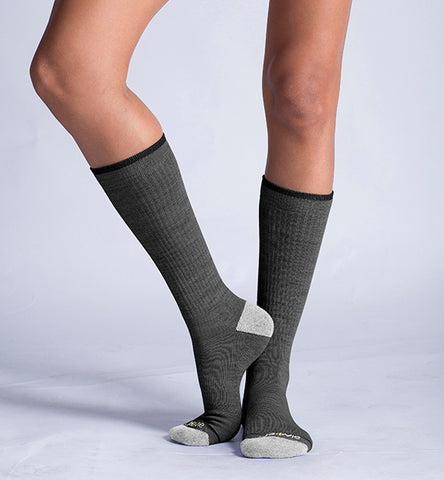 ja-vie Merino Wool Relaxed Fit Socks, Classic Dark Grey