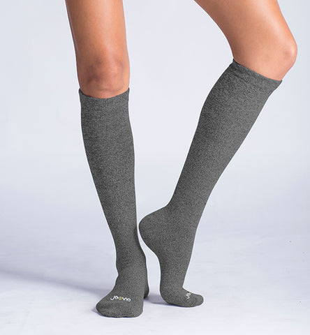ja-vie 80% Merino Wool Ultra Soft 15-20mmHg Graduated Compression Socks, Grey