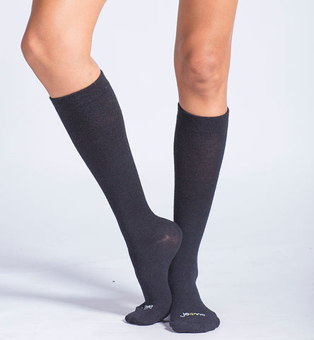 Modal Medium Moderate Graduated Compression Socks 3 Packs/Black-Black-White