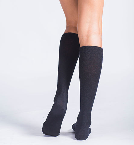 ja-vie Modal Medium Moderate Graduated Compression Socks 3-Pack Black