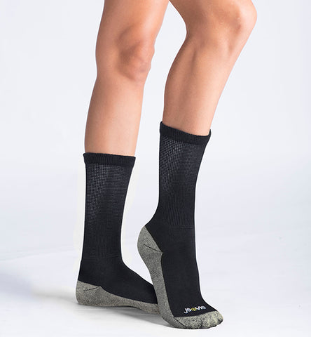 ja-vie Copper Non-Binding Relaxed Fit socks, Black
