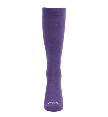 ja-vie 80% Merino Wool Ultra Soft 15-20mmHg Graduated Compression Socks, Purple