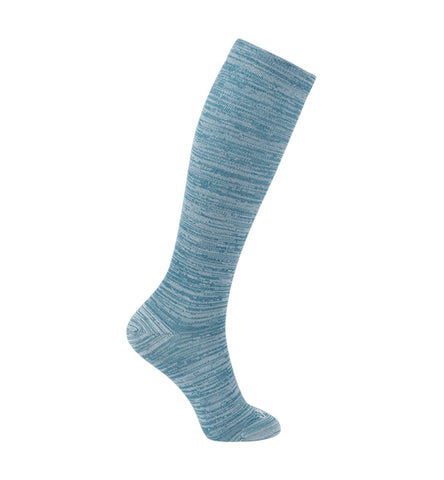 ja-vie 80% Merino Wool Ultra Soft 15-20mmHg Graduated Compression Socks, Teal Blue