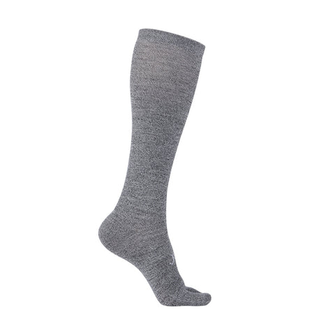 ja-vie 76% Merino Wool Ultra Soft 15-20mmHg Graduated Compression Split Toe Socks, Grey Marl