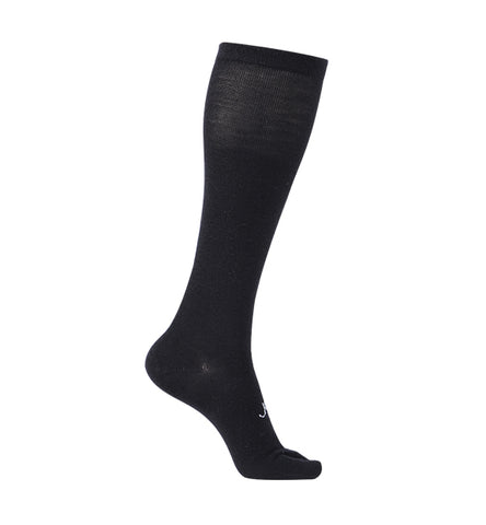 ja-vie Cotton Medium Moderate Graduated Compression Split Toe Socks, Black (15-20mmHG)