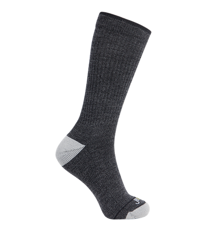Merino Wool Relaxed Fit Socks, Classic Dark Grey