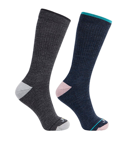 ja-vie Merino Wool Relaxed Fit Socks 2-pack Grey, Navy