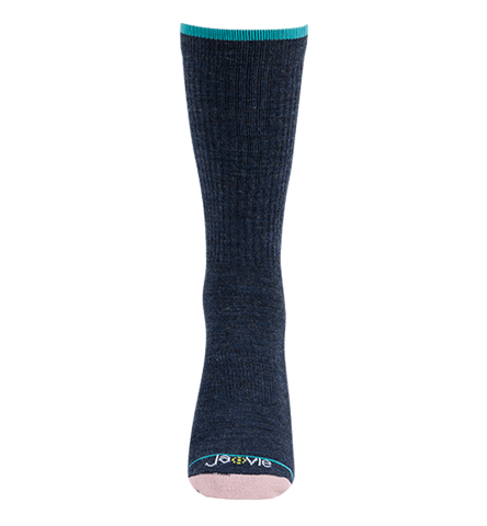 ja-vie Merino Wool Relaxed Fit Socks, Classic Navy