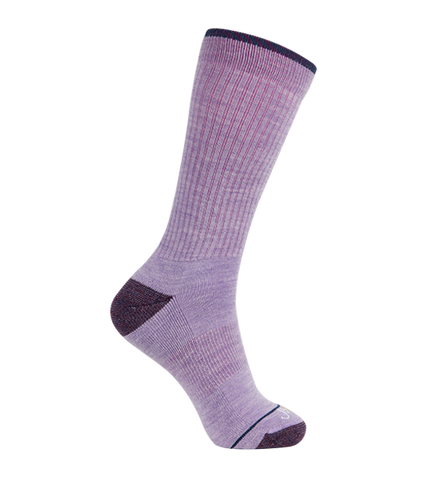 Merino Wool Relaxed Fit Socks, Classic Lavender