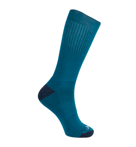 Merino Wool Relaxed Fit Socks, Classic Teal