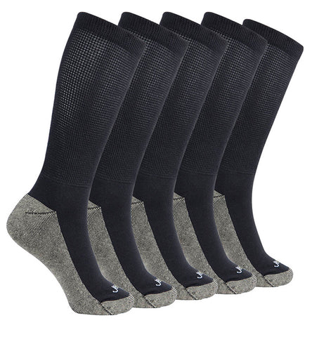 ja-vie Copper Non-Binding Relaxed Fit socks, 5-pack Black