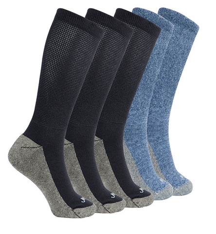 ja-vie Copper Non-Binding Relaxed Fit socks, 5-pack Black, Blue