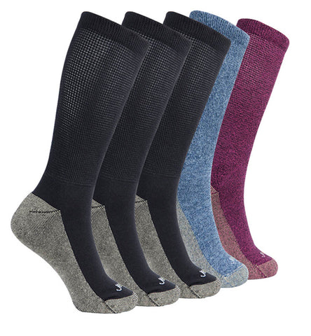 ja-vie Copper Non-Binding Relaxed Fit socks, 5-pack Multicolor
