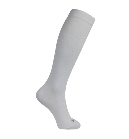 ja-vie Modal Medium Moderate Graduated Compression Socks, White (15-20mmHG)