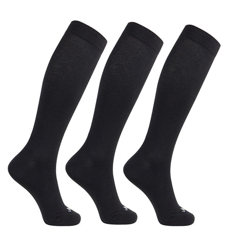 Modal Medium Moderate Graduated Compression Socks 3 Packs/Black-Black-Black