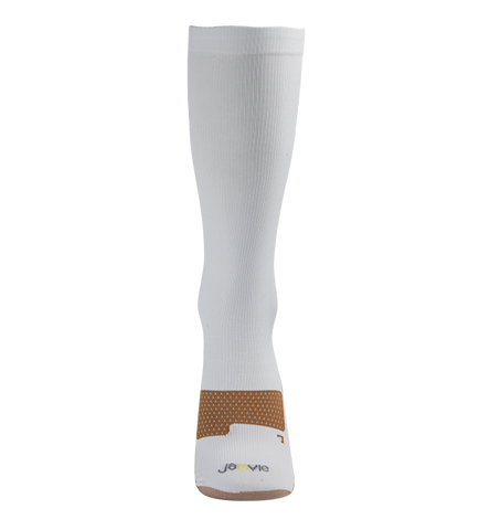 ja-vie Copper Medium Moderate Graduated Compression Socks, White (15-20mmHG)