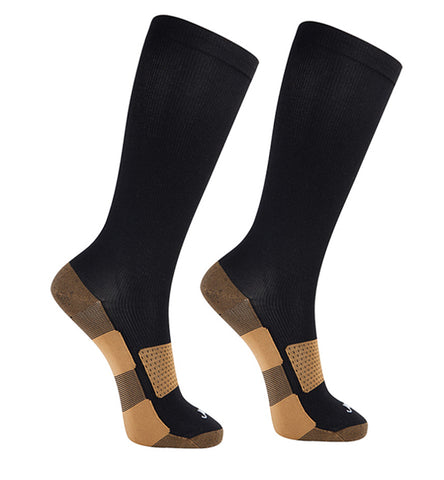 Copper Medium Moderate Graduated Compression Socks 2 pack/Black-Black