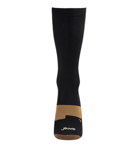ja-vie Copper Medium Moderate Graduated Compression Socks 2-pack,Black
