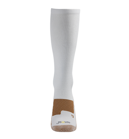 ja-vie Copper Bamboo Medium Moderate Graduated Compression Socks 2-pack, Black/White