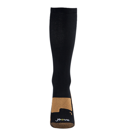 ja-vie Copper Bamboo Medium Moderate Graduated Compression Socks 2-pack, Black