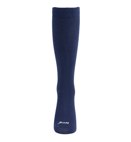 ja-vie Cotton Medium Moderate Graduated Compression Socks, Classic Navy (15-20mmHG)
