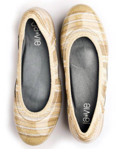 ja-vie metallic stripe jelly flats shoes