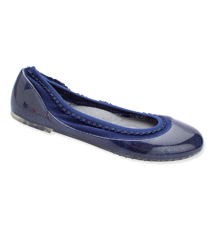 ja-vie navy ruffle jelly flats shoes