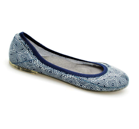 ja-vie navy/white mosaic jelly flats shoes