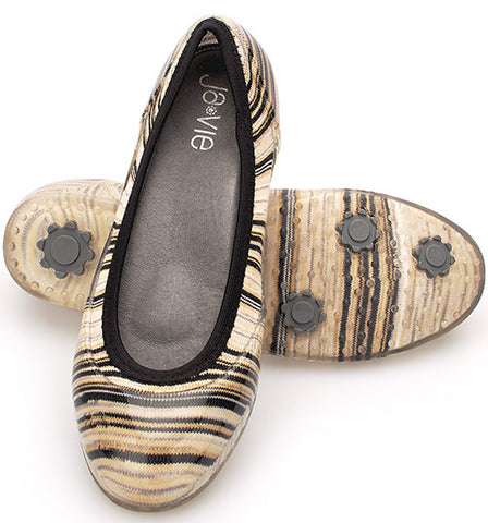 ja-vie desert stripe jelly flats shoes