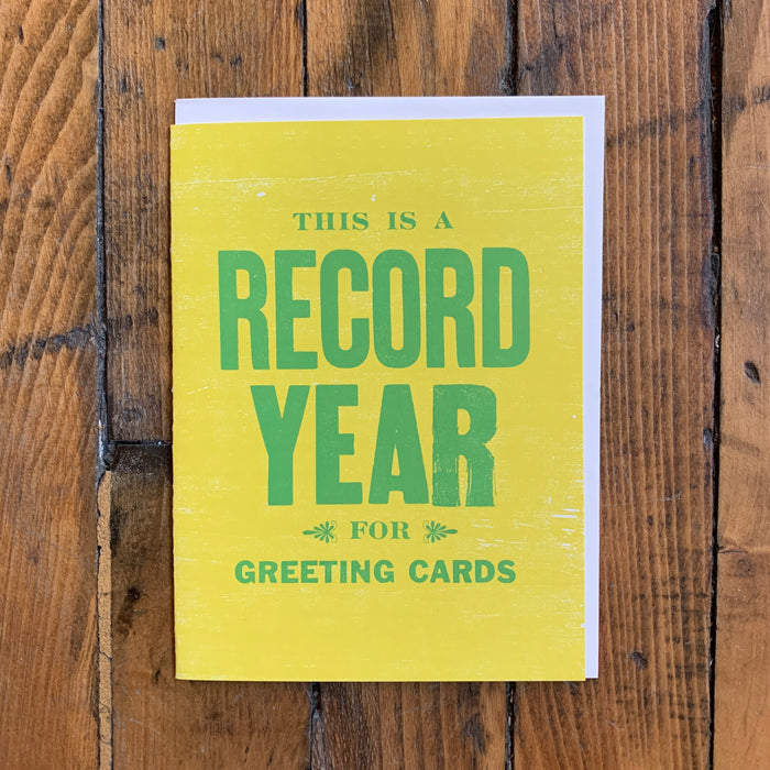Record Year (Yellow) - Holiday