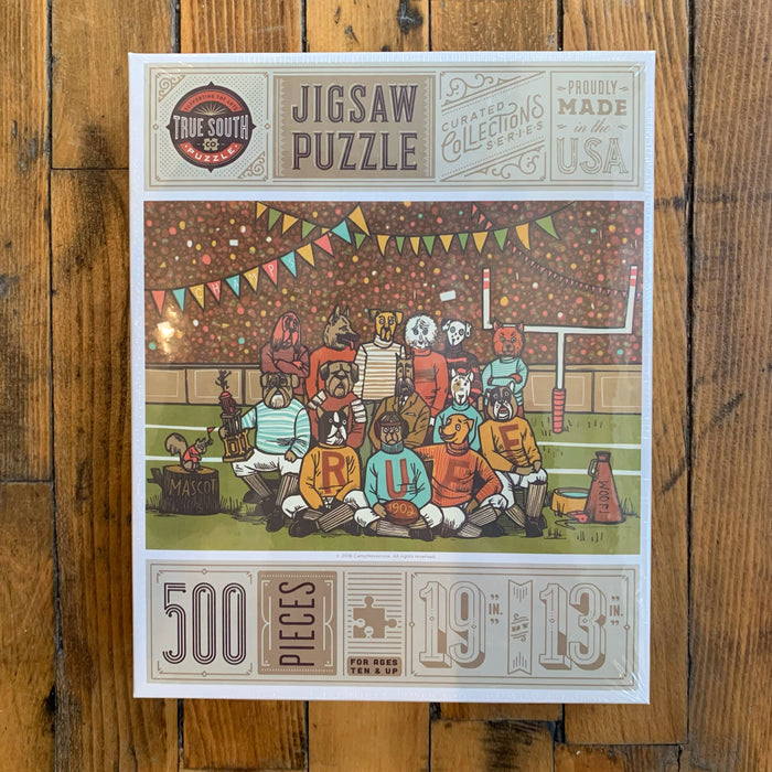 Football Pups Puzzle  - 500 Pieces