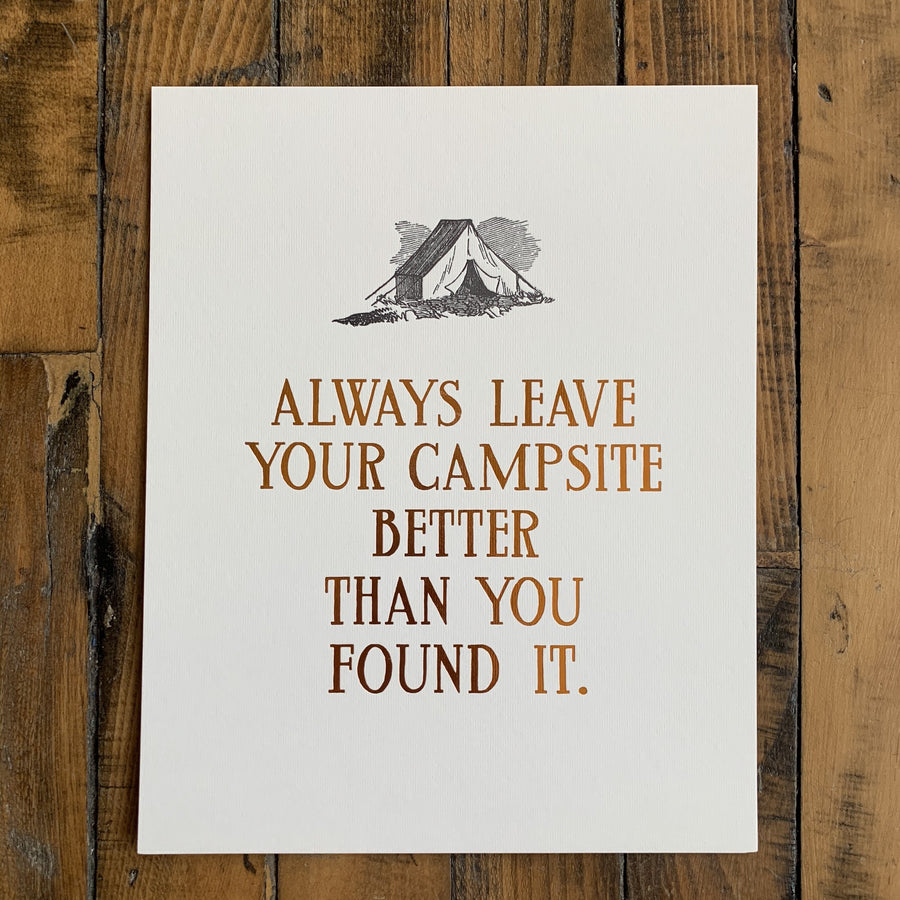 Campsite Print w/ Foil - Big Wheel Press