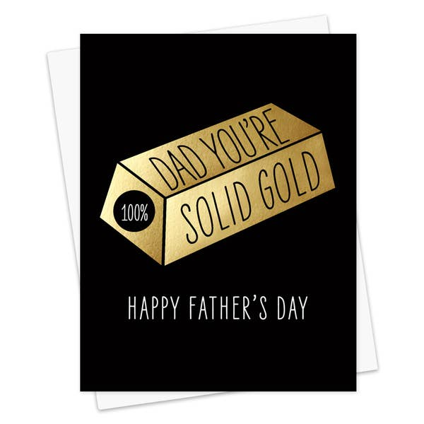 Solid Gold Dad Foil Stamped - Father's Day