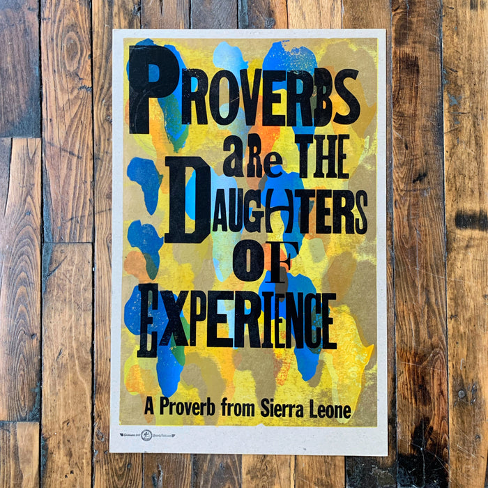 PROVERBS ARE THE DAUGHTERS OF EXPERIENCE (Yellow) - Kennedy Prints