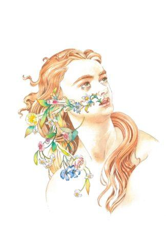 Chloris after Botticelli - by Annie Rochelle