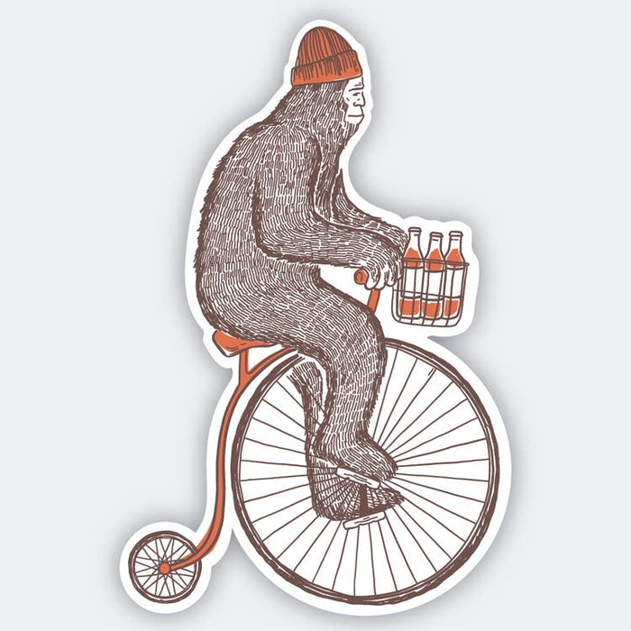 Sasquatch Bike Sticker