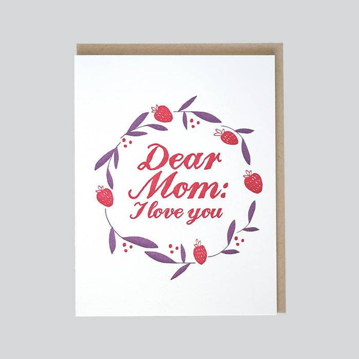DEAR MOM I LOVE YOU - Love
