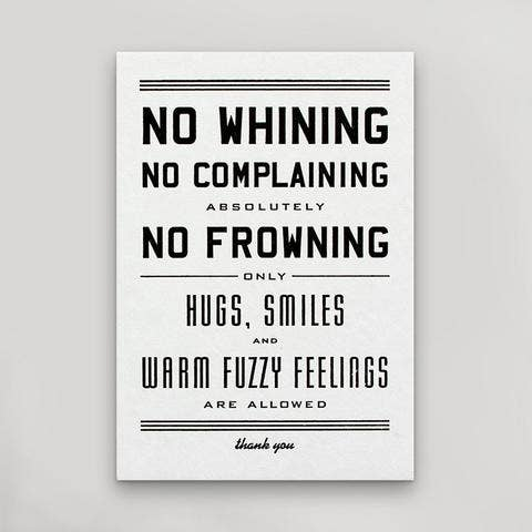 No Whining - Postcard