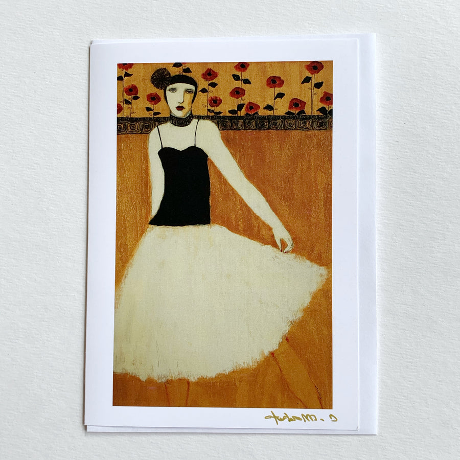COCKTAIL DRESS W/ BLOOMS II - Art Card