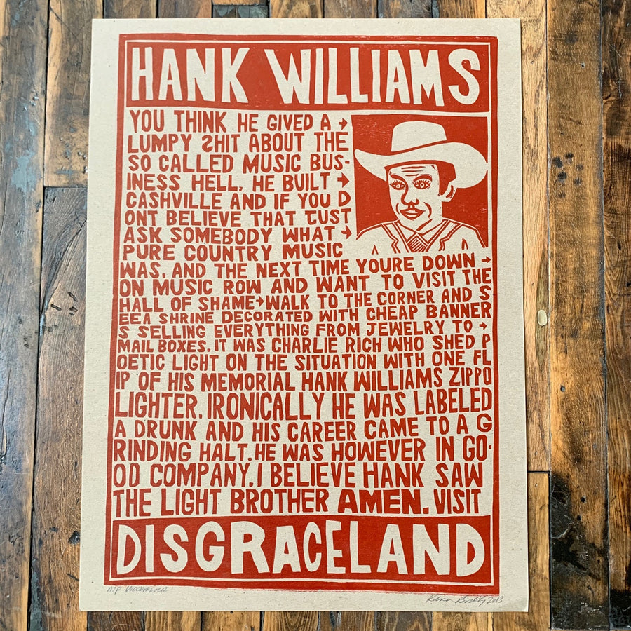 Hank Williams - Disgraceland - Kevin Bradley