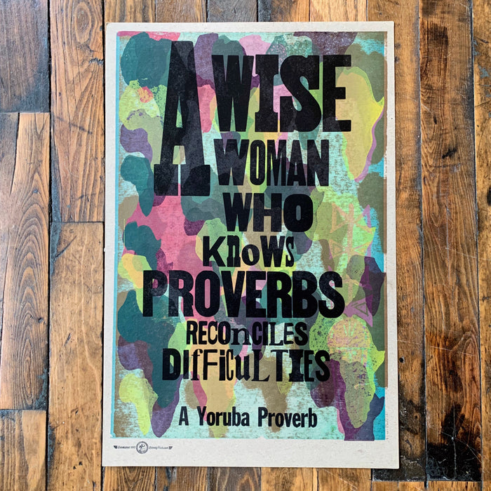 A WISE WOMAN WHO KNOWS PROVERBS... - Kennedy Prints