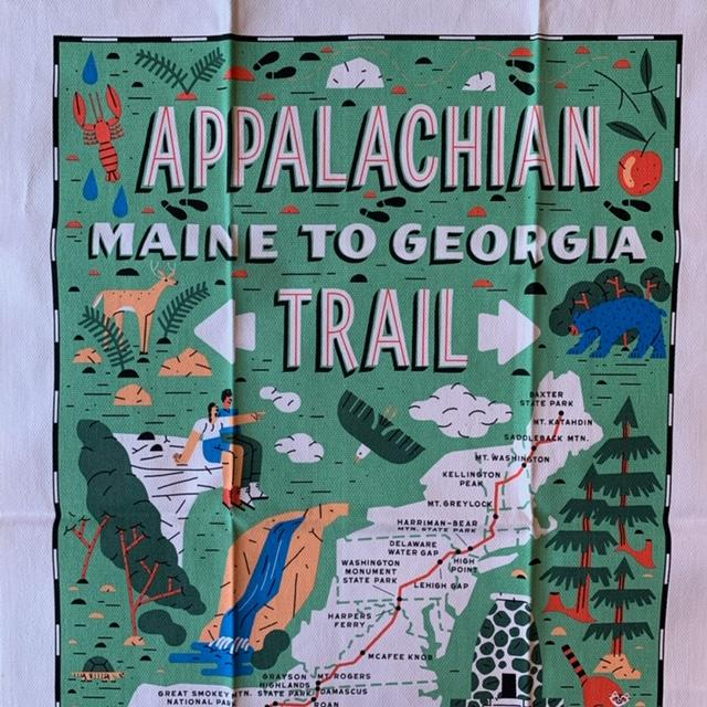 Appalachian Trail Tea Towel - by Vestiges