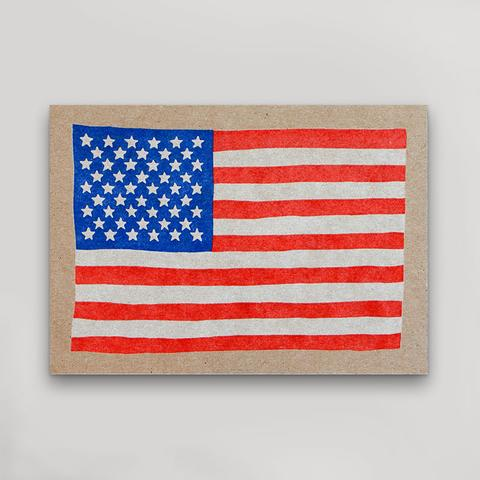 USA Flag - Postcard