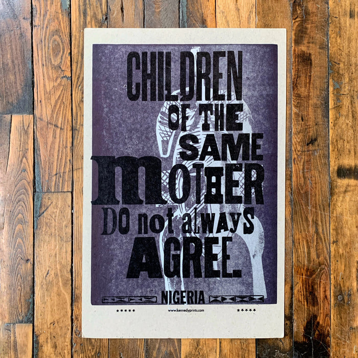 CHILDREN OF THE SAME MOTHER...(PURPLE) - Kennedy Prints