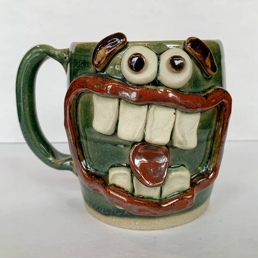 Green Toothy and Tongue Mug
